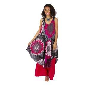 Robe originale effet tunique longue sur un pantalon Mathiya