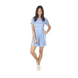 Robe marinière bleu clair rayé pour femme Marina